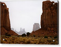 Monument Valley Mist Acrylic Print by Robert Lozen