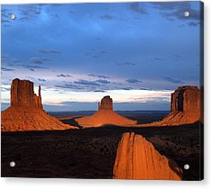 Acrylic Print featuring the photograph Monument Valley @ Sunset 2 by Jeff Brunton