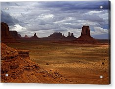 Monument Valley Navajo Tribal Park Acrylic Print by Ellen Heaverlo