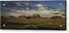 Monument Valley Panorama Acrylic Print by Steve Gadomski