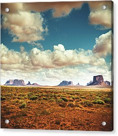 Monument Valley Panoramic View Acrylic Print by Franckreporter