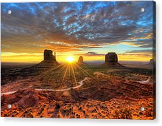 Monument Valley Sunrise Acrylic Print