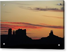 Monument Valley Sunset 1 Acrylic Print