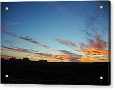 Monument Valley Sunset 2 Acrylic Print