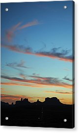 Monument Valley Sunset 3 Acrylic Print
