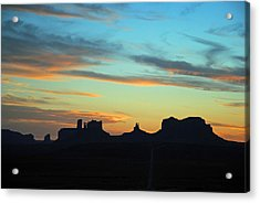 Monument Valley Sunset 4  Acrylic Print