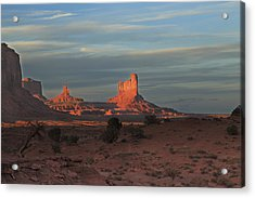 Acrylic Print featuring the photograph Monument Valley Sunset by Alan Vance Ley