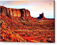 Monument Valley Sunset By Bob Johnston Acrylic Print by Bob and Nadine Johnston