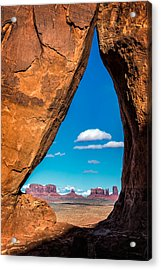 Monument Valley Through A Tear Acrylic Print