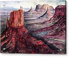 Monument Valley Arizona - Landscape Art Painting Acrylic Print