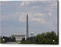Monument View From Iwo Jima Memorial - 12123 Acrylic Print