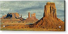 Acrylic Print featuring the painting Monumental by Jeff Kolker