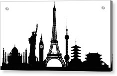 Monuments Buildings Are Complete And Acrylic Print by Leontura
