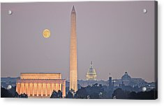 Acrylic Print featuring the photograph Monuments In Moonlight by Michael Donahue