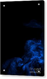Abstract Vertical Paris Blue Mood Colored Smoke Art 02 Acrylic Print by Alexandra K