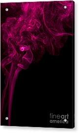 Mood Colored Abstract Vertical Purple Smoke Wall Art 01 Acrylic Print