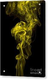 Mood Colored Abstract Vertical Yellow Smoke Wall Art 01 Acrylic Print