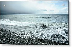 Moody Shoreline French Beach Acrylic Print