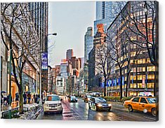 Moody Afternoon In New York City Acrylic Print