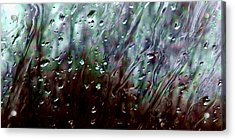 Acrylic Print featuring the photograph Moody Blues Rain On The Window Series 2 Abstract Photo by Marianne Dow