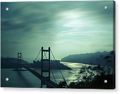 Acrylic Print featuring the photograph Moody Bridge by Afrison Ma
