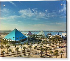 Moody Gardens In Galveston Acrylic Print by Tim Stanley