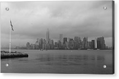 Moody Manhattan Acrylic Print