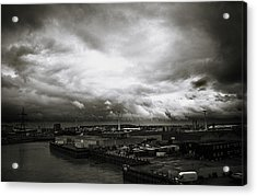 Moody Skies In London Acrylic Print by Lenny Carter