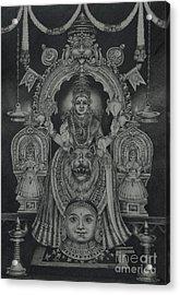 Mookambika Devi Acrylic Print by Asha Sasikumar