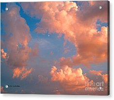 Acrylic Print featuring the photograph Moon And Clouds by Joan Hartenstein