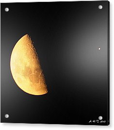 Acrylic Print featuring the photograph Moon And Star Converse by Amanda Holmes Tzafrir