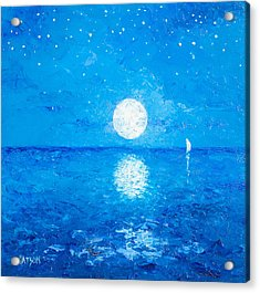 Moon And Stars Acrylic Print by Jan Matson