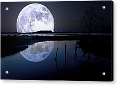 Moon At Night Acrylic Print by Gianfranco Weiss