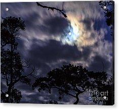 Moon Break Acrylic Print by Peta Thames