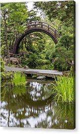 Moon Bridge Vertical - Japanese Tea Garden Acrylic Print by Adam Romanowicz
