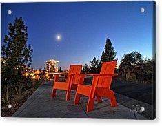 Moon Chairs Acrylic Print by Dan Quam