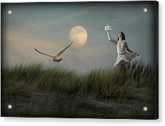 Moon Child Acrylic Print by Hazel Billingsley
