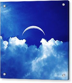 Moon Cloud Acrylic Print