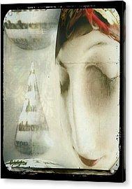 Moon Face Acrylic Print