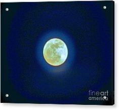 Moon Glow Acrylic Print by Judy Via-Wolff