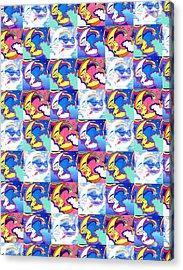 Moon Glow Textile Pattern Acrylic Print by John Keaton