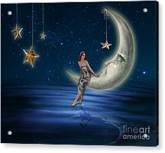 Moon Goddess Acrylic Print by Juli Scalzi