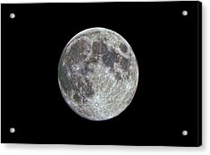 Acrylic Print featuring the photograph Moon Hdr by Greg Reed