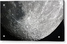 Moon Hi Contrast Acrylic Print by Greg Reed