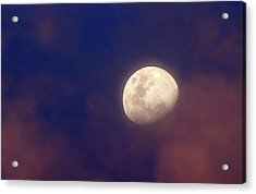 Moon In Clouds Acrylic Print by Luis Argerich
