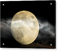 Moon In The Fog Acrylic Print by Michelle Frizzell-Thompson