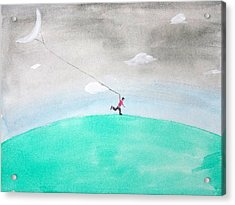 Moon Is My Kite Acrylic Print