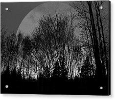 Moon Acrylic Print by Jason Lees