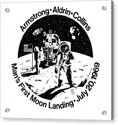 Moon Landing Acrylic Print by J W Kelly