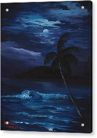 Moon Light Tropics Acrylic Print